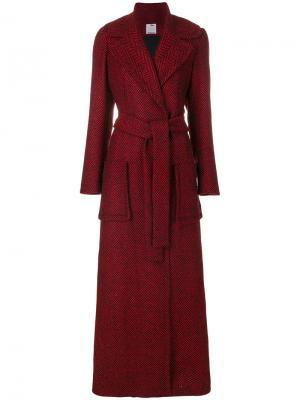 Длинное пальто-халат Ultràchic. Цвет: красный