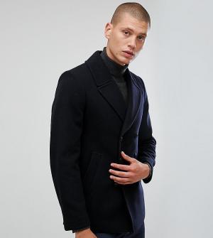Heart & Dagger Пальто-бушлат с добавлением шерсти. Цвет: темно-синий