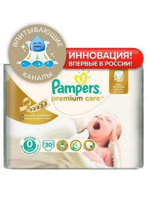 Подгузники Pampers Premium Care 1-2,5 кг, 0 размер, 30шт. Цвет: белый