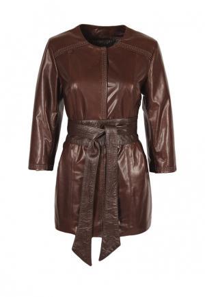 Куртка Grafinia. Цвет: коричневый