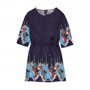 Платье без рукавов с цветными полосами MOLLY BRACKEN. Цвет: синий/ розовый