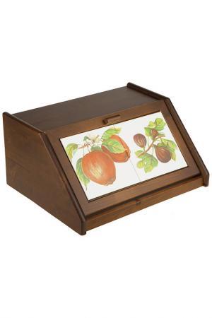 Хлебница деревянная 38,5x30x18 LCS. Цвет: мультицвет