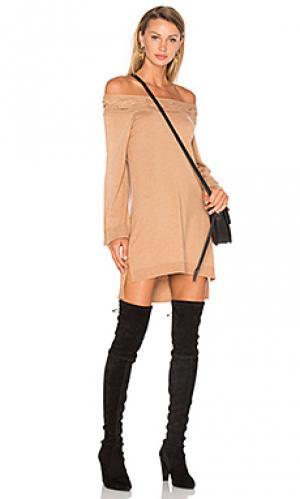 Платье свитер blinda Ella Moss. Цвет: цвет загара