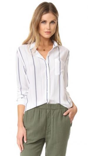 Рубашка с пуговицами Aly в полоску RAILS. Цвет: белый в полоску цвета индиго