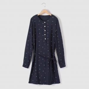 Платье-рубашка с рисунком 10-16 лет R essentiel. Цвет: набивной рисунок