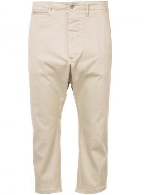 Укороченные брюки R13. Цвет: телесный
