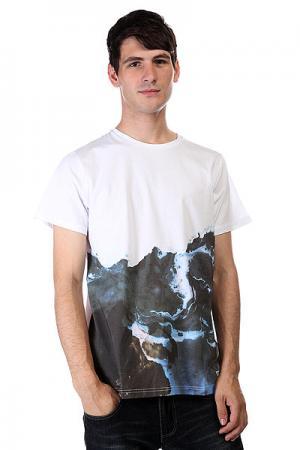 Футболка  Photo Marble Print CLWR. Цвет: белый,серый,черный