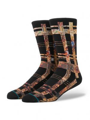 Носки ALMIGHTY (FW17) Stance. Цвет: черный, оранжевый