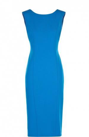 Платье-футляр с V-образным вырезом на спине Flashin. Цвет: синий