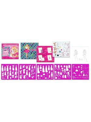 Альбом для творчества наклейки + трафареты Mattel BARBIE А4. Цвет: розовый