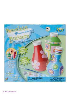 Набор Роспись фарфоровых ваз BOJEUX. Цвет: зеленый, красный, розовый, синий, фиолетовый