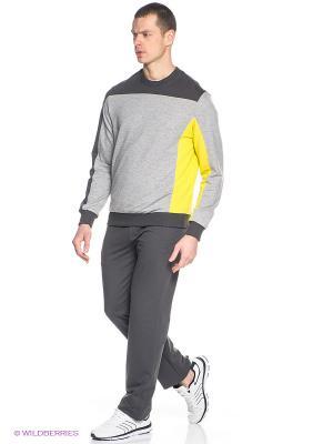Спортивный костюм RED-N-ROCK'S. Цвет: темно-серый, серый меланж, желтый