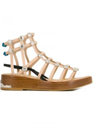 Гладиаторские сандалии Toga. Цвет: телесный