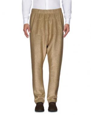 Повседневные брюки BAD SPIRIT. Цвет: золотистый