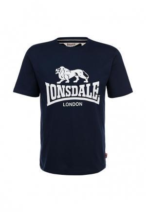 Футболка Lonsdale. Цвет: синий