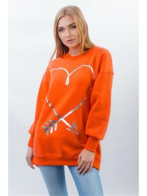 Свитшот Little Secret. Цвет: оранжевый