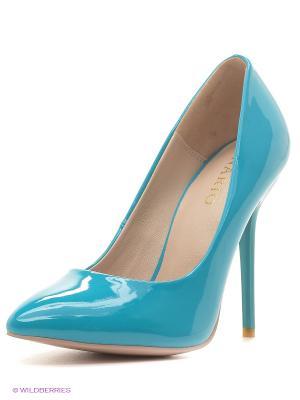 Туфли INARIO. Цвет: бирюзовый, светло-голубой