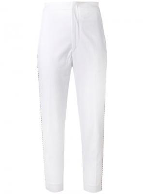 Укороченные брюки Holm Isabel Marant Étoile. Цвет: белый
