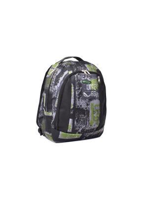 Ранец ученический CAGIA. Цвет: черный, зеленый, серый