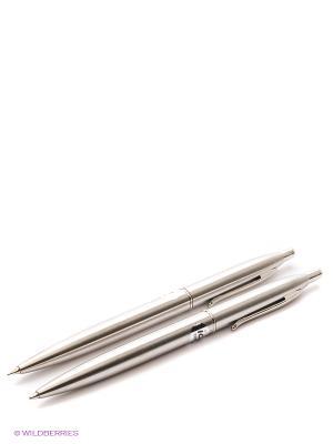 Канцелярский набор: ручка и механический карандаш Centrum. Цвет: серый