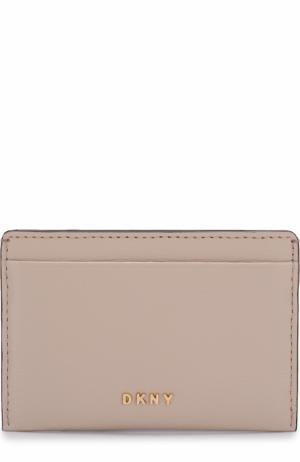 Кожаный футляр для кредитных карт DKNY. Цвет: светло-розовый