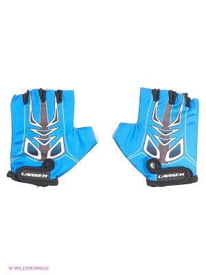 Велоперчатки Larsen. Цвет: синий