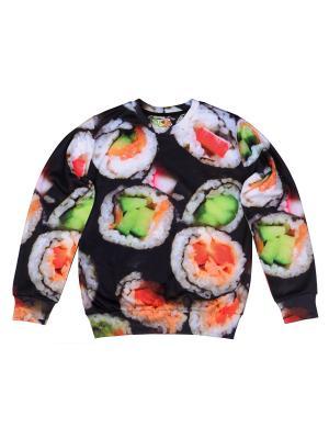 Свитшот Sushi FUSION. Цвет: черный, белый, зеленый