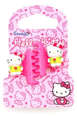 Заколка-крабик, 2 шт. Hello Kitty. Цвет: красный