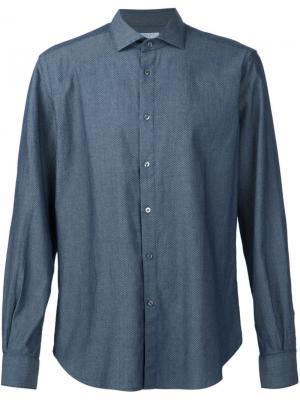 Классическая рубашка Boglioli. Цвет: синий