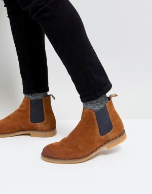 River Island Замшевые ботинки челси. Цвет: рыжий