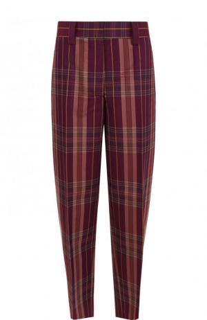 Укороченные брюки из смеси полиэстера и шерсти Acne Studios. Цвет: фиолетовый