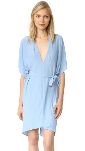 Платье с графическим принтом MLM LABEL. Цвет: арктический ледяной голубой
