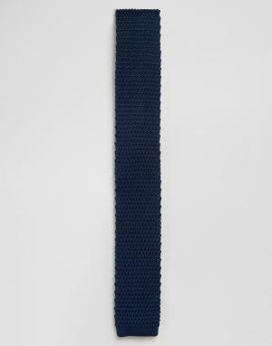 Gianni Feraud Темно-синий вязаный галстук. Цвет: темно-синий