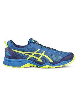 Кроссовки GEL-FujiTrabuco 5 ASICS. Цвет: голубой, желтый, темно-синий