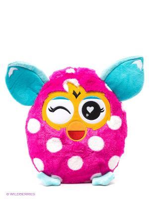 Плюшевая подушка, 30 см Furby. Цвет: розовый