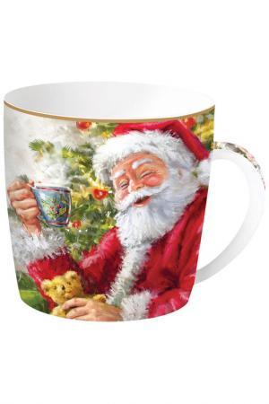 Кружка Дед Мороз с кружкой Easy Life. Цвет: красный, белый
