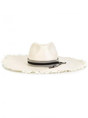 Широкополая шляпа Brunello Cucinelli. Цвет: белый