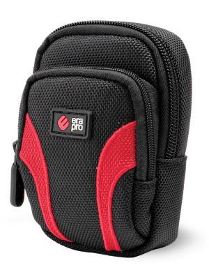 Era Pro Чехол для фотоаппарата EP-010915 9,2х6,5х2,8 см.. Цвет: красный, черный