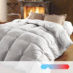 Одеяло, 370 г/м², 50% пуха, обработка против клещей и пятен BEST. Цвет: белый