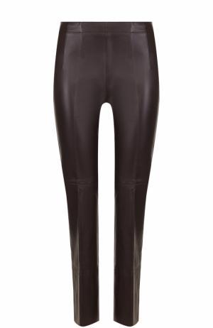 Укороченные кожаные брюки со стрелками Dorothee Schumacher. Цвет: темно-фиолетовый