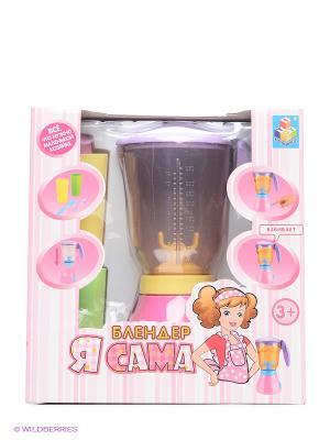 Электрический мини-блендер Я сама 22,5 см 1Toy. Цвет: прозрачный