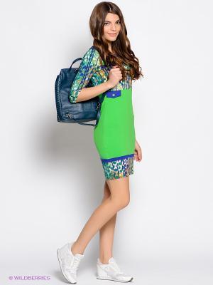 Платье &Berries. Цвет: зеленый, синий
