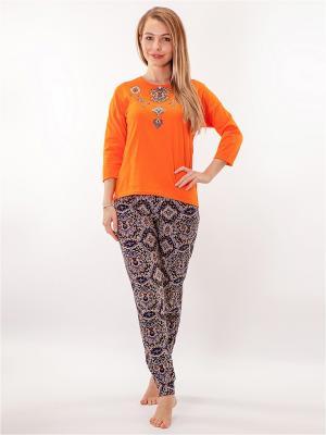 Домашний костюм HELLO MODA!. Цвет: оранжевый