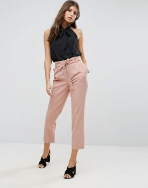 Miss Selfridge Свободные брюки. Цвет: розовый