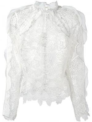 Lace blouse Self-Portrait. Цвет: белый