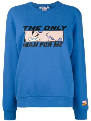 Толстовка  Only Man Steve J & Yoni P. Цвет: синий