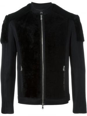 Двухцветная куртка-бомбер Antpitagora. Цвет: чёрный