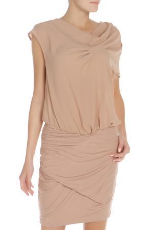 Платье LIU-JO. Цвет: бежевый