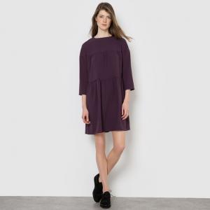 Платье-трапеция MADEMOISELLE R. Цвет: темно-фиолетовый,черный