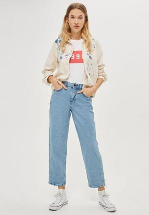 Куртка джинсовая Topshop. Цвет: бежевый